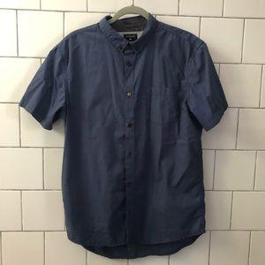 Slim fit navy blue Quicksilver shirt sz L